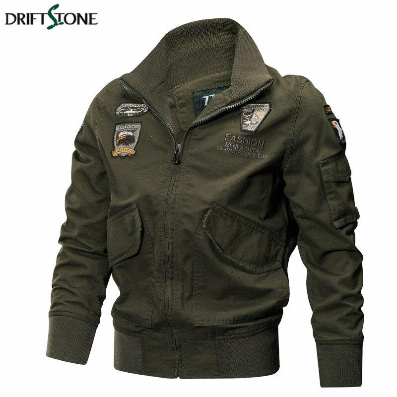 Для мужчин Военная Униформа куртки осень зима Тактический ВВС Пилот пальто Качественный хлопок армии мужской повседневное верхняя одежда