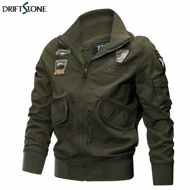 Men Military Jackets Autumn Winter Tactical Air Force Pilot Coat Quality Cotton Army Jackets Male Casual Outerwear Clothes