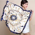 90cm*90cm H key compass simulation trace towel sunscreen shawl silk scarf