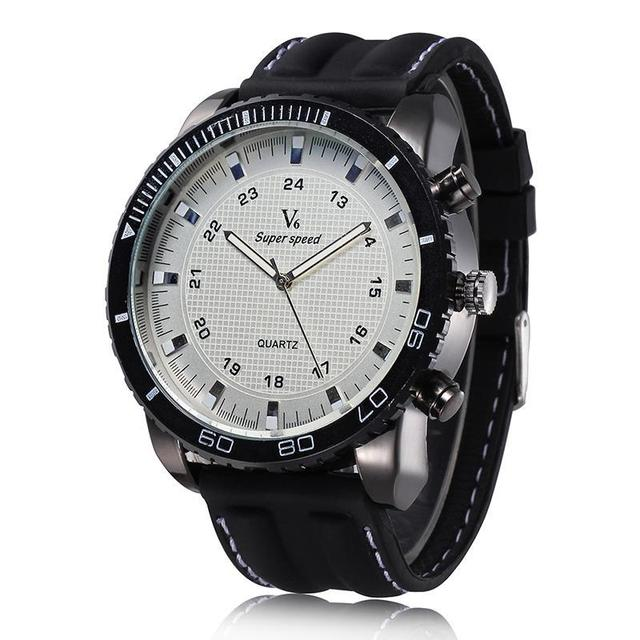 Hot Sale 2015 Men Sport Watch V6 Brand Fashion Quartz Silicone Wristwatches New Arrival