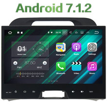 2 Din Car DVD Android 7.1.2 Radio Multimedia Stereo MP3 Player 1024*600 GPS Navigation touch screen For Kia Sportage 2010-2012