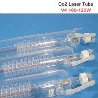 Хорошая Co2 лазерная трубка V4 100 W 120 W CO2 лазерная трубка 1450 мм длина 80 мм Диаметр упакованы в деревянном корпусе с Бесплатная проводное соедине