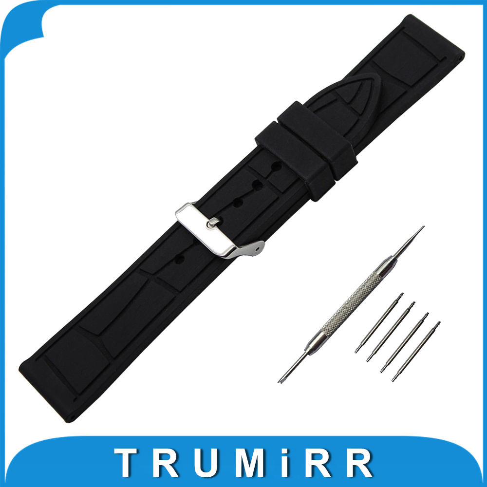 19mm 20mm 21mm 22mm 23mm 24mm Silicone Rubber Watch Band for Hamilton Stainless Steel Buckle Strap Belt Wrist Bracelet Black the wallflower 22 23 24