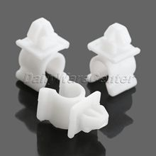 New 50Pcs Fit 9mm HoleTruck Car White Hood Prop Rod Clips Panel Fender Bumper Door Side Skirt Fastener Plastic for Nissan
