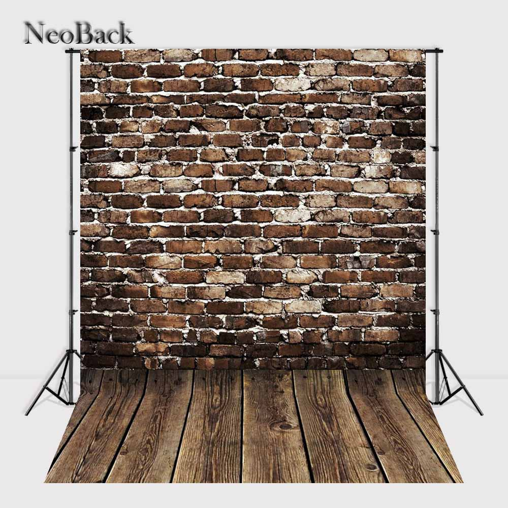 2017 fast shipping 3x5ft 5x7ft wall Bricks backgrounds photo studio children shooting Computer Painted Backdrops fondos