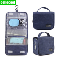 CelleCOOL High Quality Women Men Large Waterproof Makeup bag Toiletries Bag Travel Wash kit Beauty Cosmetic hook