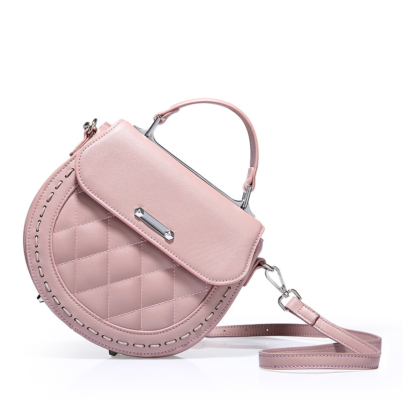 Fashion Brand Cow Split Leather Handbag Messenger Bag Women Shoulder Bag Circle Sweet Bags Girls Small Cross body Bag fashion matte retro women bags cow split leather bags women shoulder bag chain messenger bags