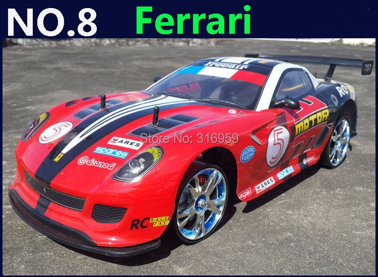 Large 1:10 RC Car High Speed Racing Car 2.4G F599 Roadster 4 Wheel Drive Radio Control Sport Drift Racing Car Model toy remote control mini size electric 1 24 high speed 4 wheel drive rc drift speed race car with lights