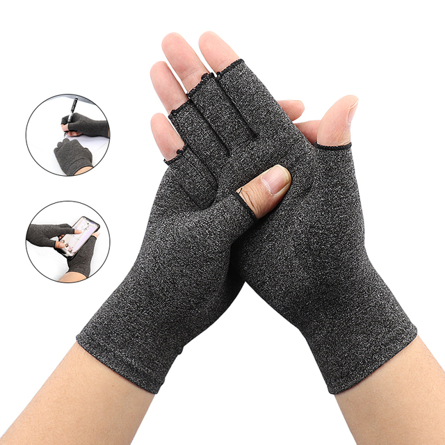 1Pair Compression Therapy Fingerless Gloves 1