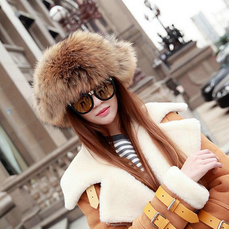 Luxe Sibir Style Kürk Şapka Rus Yenotekası Qadınlar Üçün Tam - Geyim aksesuarları - Fotoqrafiya 5