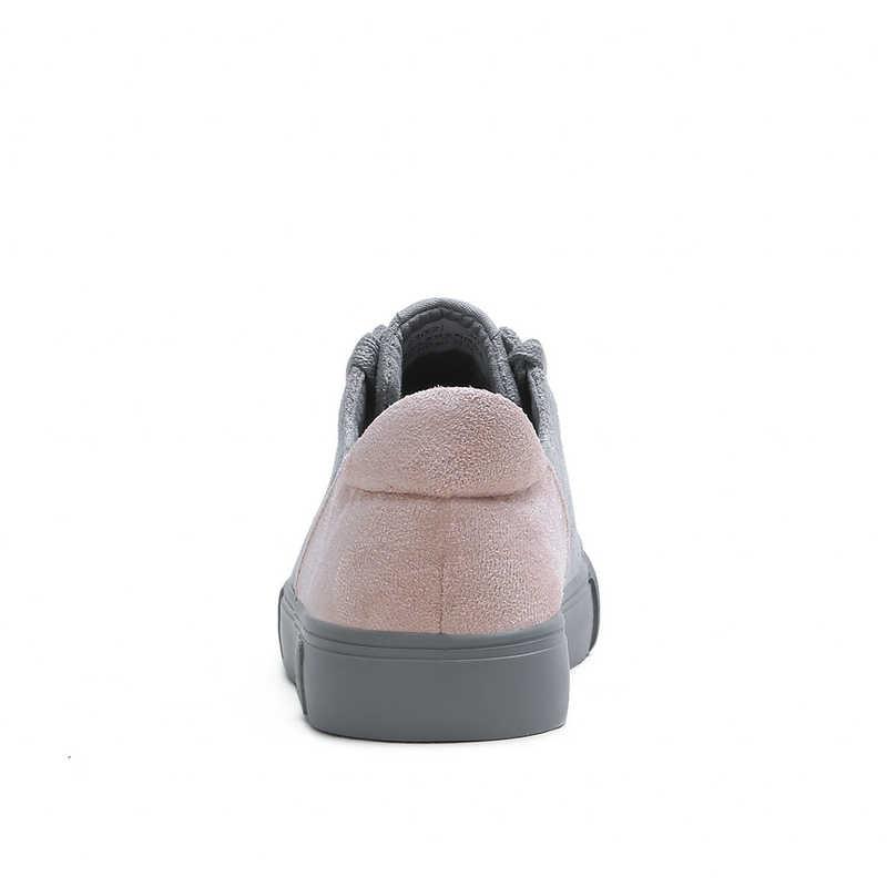 2018 donne di Autunno appartamenti scarpe da tennis della piattaforma scarpe Flock scarpe casual scivolare su appartamenti talloni creepers