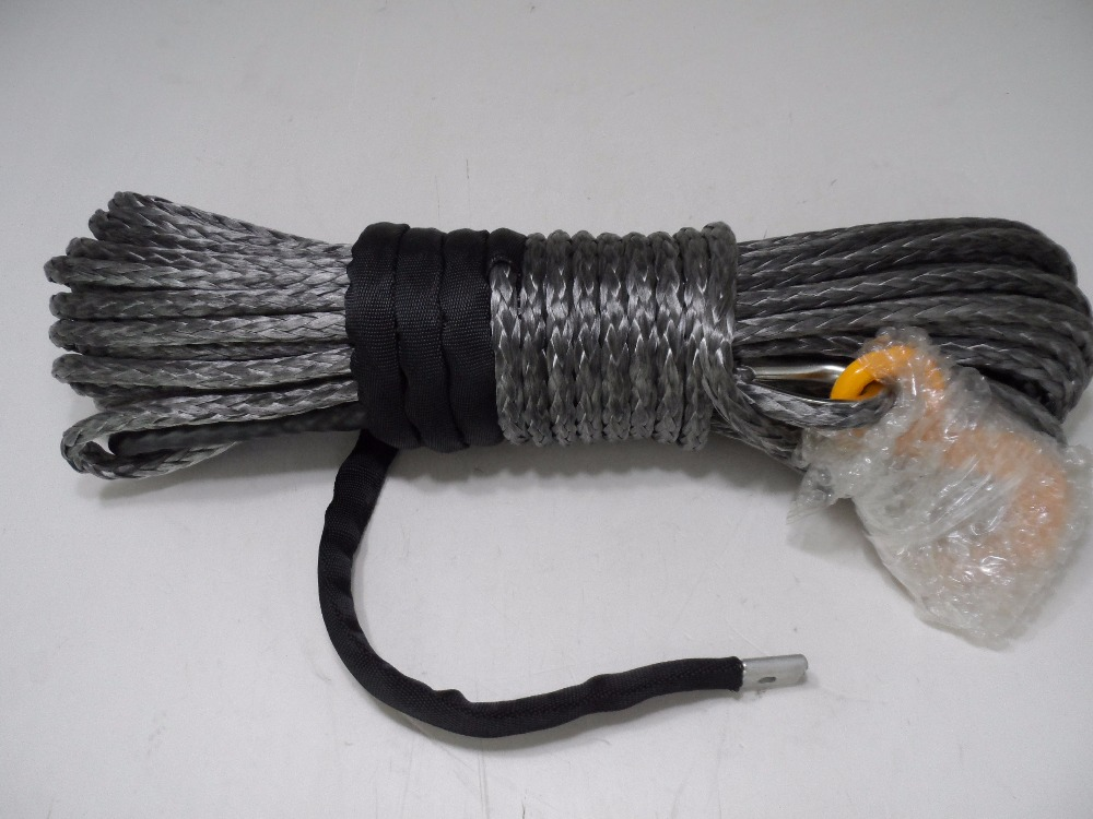 Free Shipping Grey 10mm*30m Synthetic Winch Cable,Winch Rope Extension,Off Road Rope