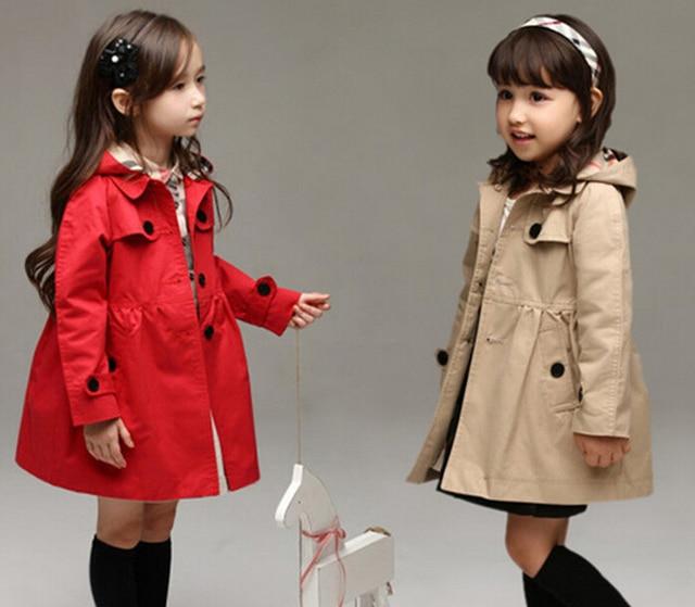 d2e5a7c5b Spring Autumn Coats Children s Clothing Girls Trenchs Girl ...