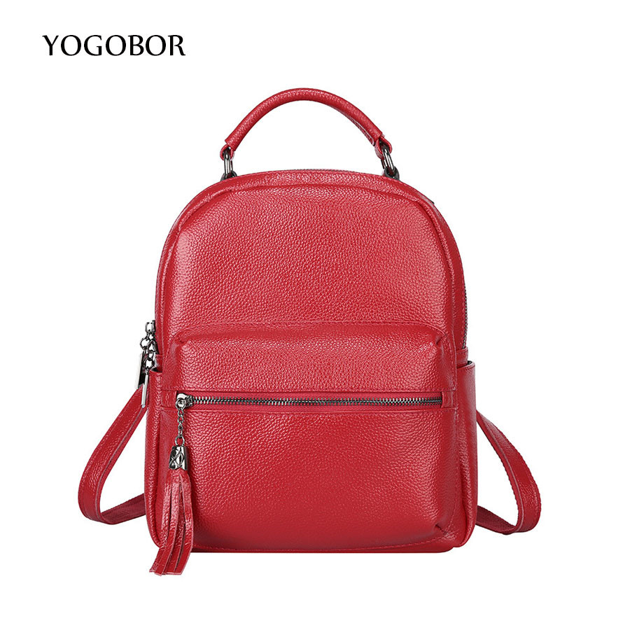 YOGOBOR Backpack Women 2017 Fashion Leather Bag Women Bag Cowhide Women Backpack Mochila Feminina School Bags for Teenagers miwind new backpack women school bags for teenagers mochila feminina women bag free shipping leather bags women leather backpack