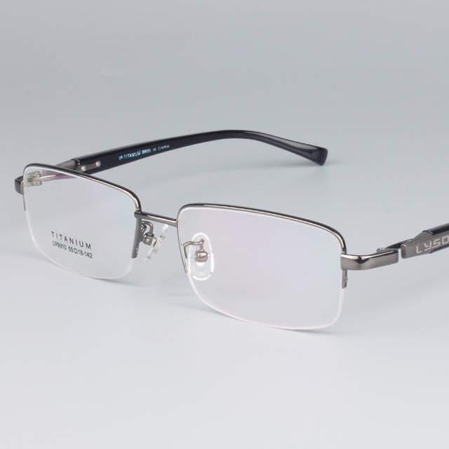 67b9e7e89b Vazrobe Titanium Gold Eyeglasses Frame Men Half Frame Wide Face Semi  Rimless Glasses Frames for Man