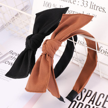 Korea Boutique Hairband Cloth Bow Headband Women Lady Hair Head Hoop Band Accessories For Girls Scrunchy Headdress