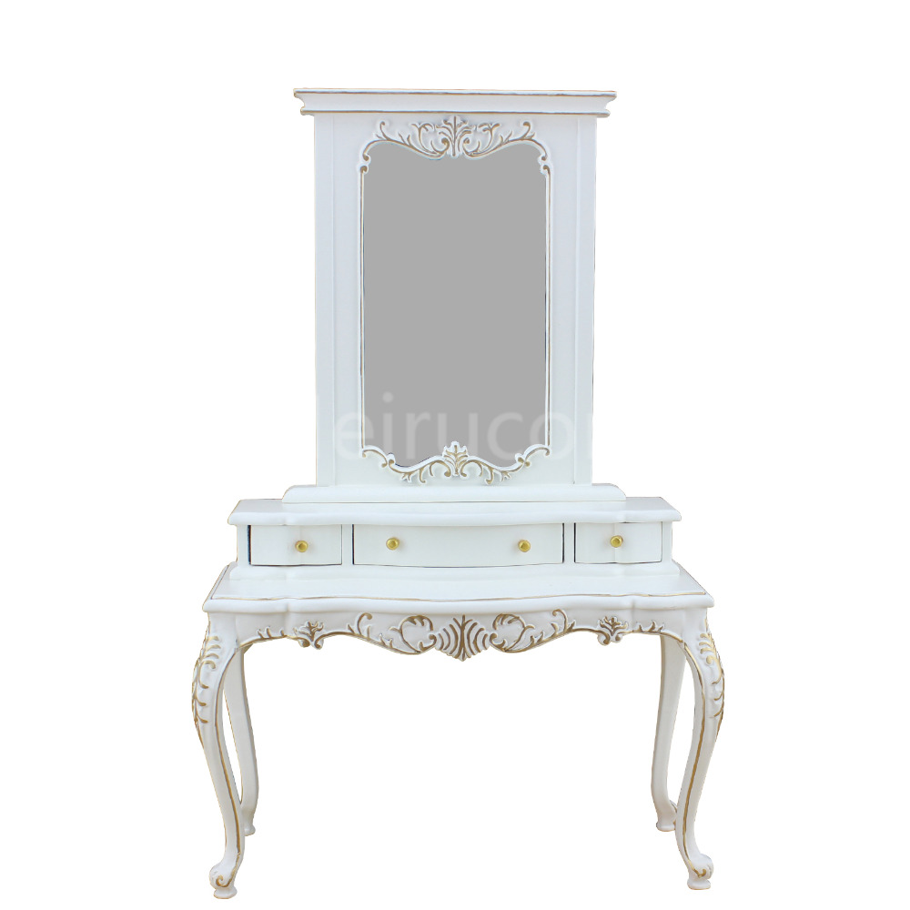 Doll miniature furniture 1 6 scale Collection white Hand gilt Dressing tables and mirrors