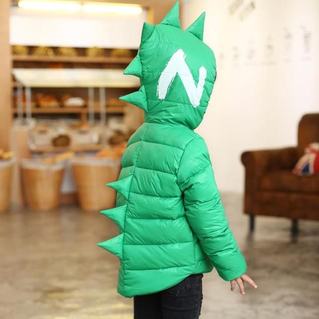Boys/ Girls Cartoon Tyrannosaurus Winter Down Jacket