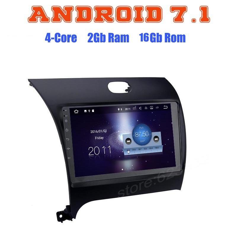 Quad core android 7.1 автомобилей Радио GPS Нет DVD плеер для Kia Cerato Forte K3 с 2 г Оперативная память Wi-Fi 4 г USB Bluetooth RDS Аудио Стерео СБ