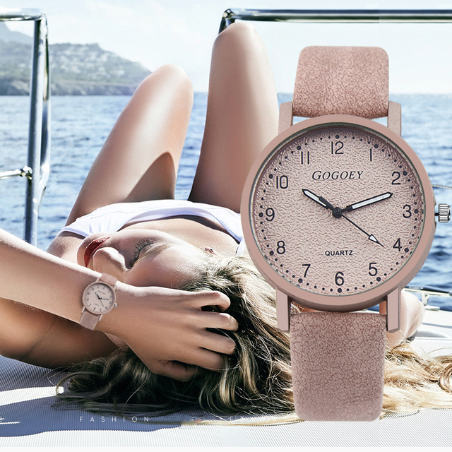 Gogoey Brand New Watch Fashion Leather Wristwatch Women Watches Luxury Ladies Wa