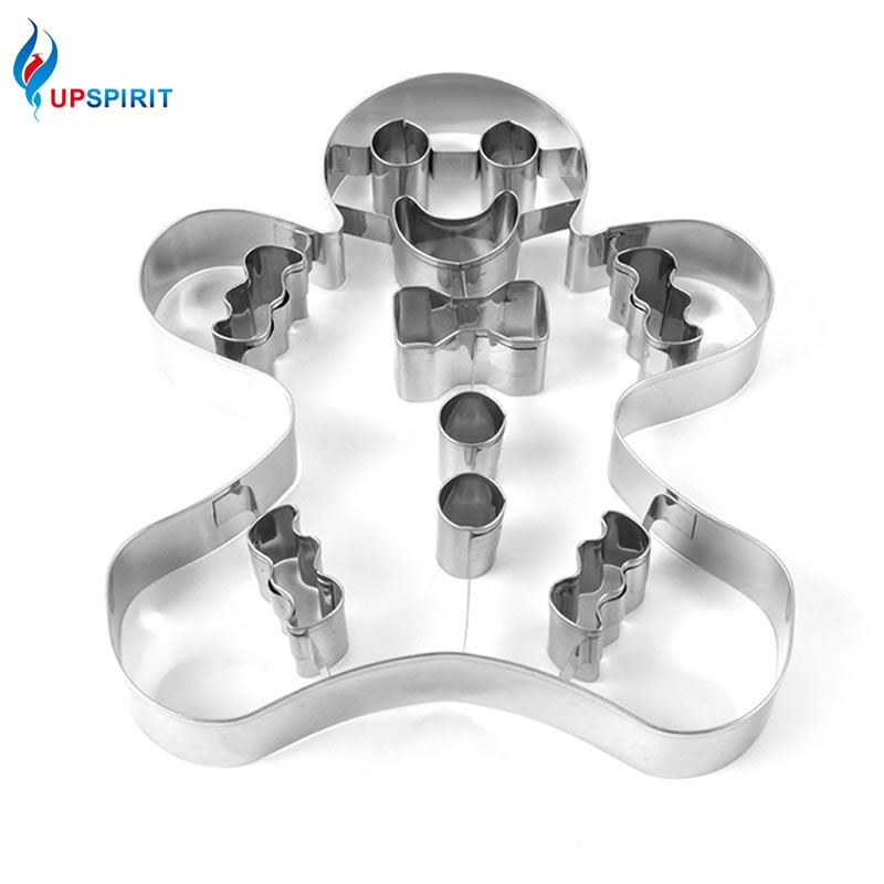 Upspirit Gingerbread Man Cookie Cutter Stainless Steel Biscuits Mold Cookie Bread Fruit Cutter Mould DIY Cake Decorating Tool