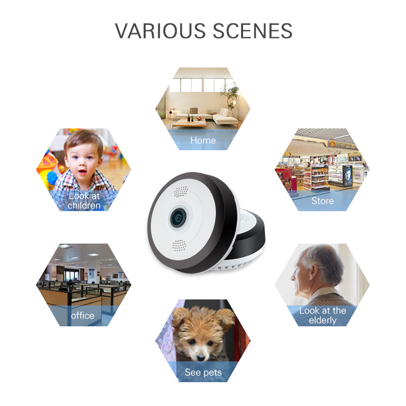 Mini 960P HD Panoramic 360 Wide Dual Angle Fish Eye Lens VR Video Home Security IP Camera Wi-Fi  Camera нивелир ada cube 2 360 home edition a00448