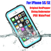 Waterproof Case For IPhone SE 5S Original RedPepper Dot Series IP68 Diving Underwater PC TPU Armor