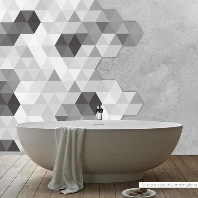 Self Adhesive Tile Art Floor Wall Decal Sticker Diy Kitchen Bathroom Decor Vinyl Wallpaper Stickers