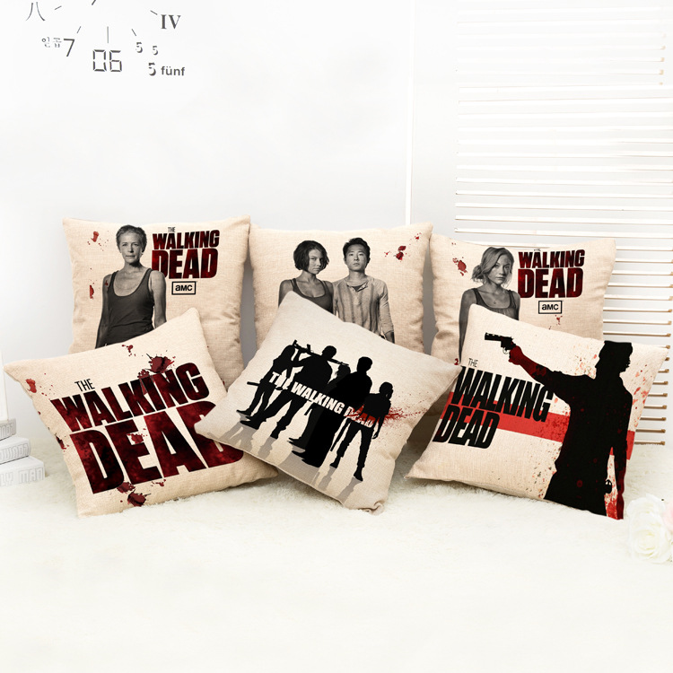 Utan kärnan The Walking Dead Nap Kudde Bilar Hem Lumbar Pad Pillow Cover Håll Pillow Kids Leksaker