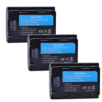 3PC 2280mAH NP-FZ100 NP FZ100 Battery for Sony NP-FZ100, BC-QZ1 Alpha 9, A7RIII, ILCE-7RM3, a9, Sony A9R Sony Alpha 9 s Camera фото