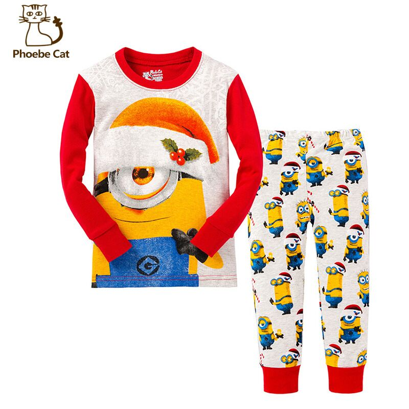2016 Brand new Cartoon Despicable me Kid Pyjamas Boy Minions ...