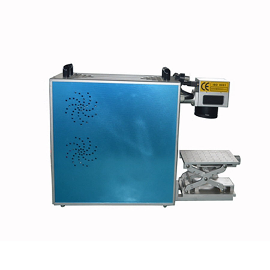 CE FDA Certification 110*110mm Work Size Air Cooling 10W Potable Fiber Laser Marking Machine For Marking Metal