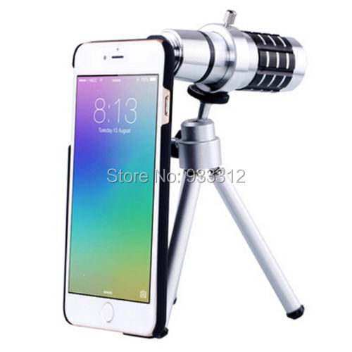 12X Zoom Telescope Clip Camera Lens Kit Tripod Case For iPhone 6 4.7inch