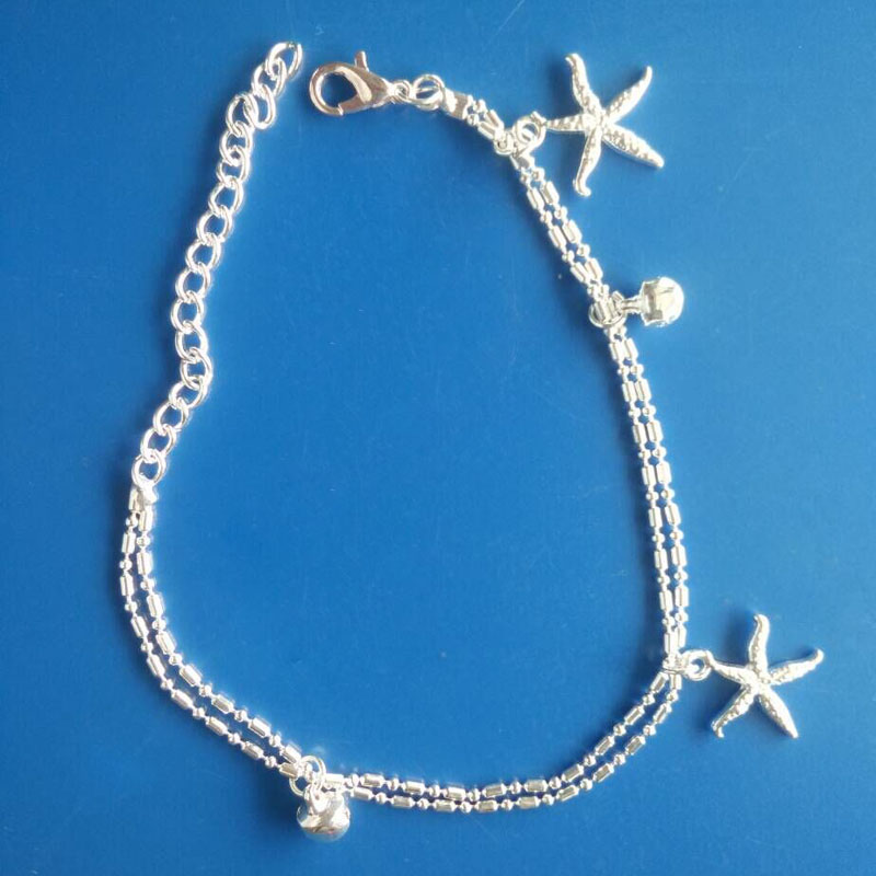 Boho Ethnic Starfish Anklet Chic Small bell Foot Chain Anklet Bracelet Body Jewelry Anklet For Women and Men Free Shipping.