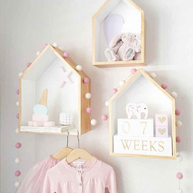 2,5 M decoración de bolas de colores Macaron hecha a mano con bolas Tienda de bebé niños decoración de la habitación accesorio colgante de pared