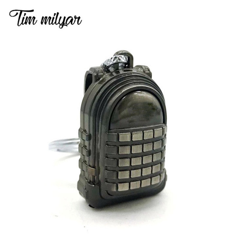 Tim Milyar Armor Backpack Bag Car Keychain Cosplay Playerunknowns Battlegrounds Game Costume Props Accessory Key Pendant T1004