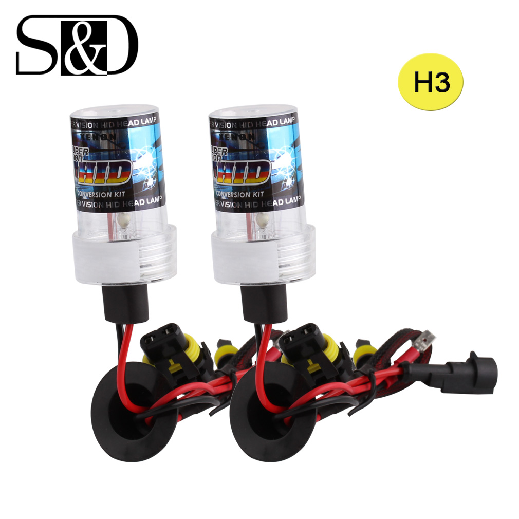 2pcs HID Xenon H3 Bulbs Fog Lights Replacement Auto Headlight Xenon Lamp Car Light Source 35W 55W White Yellow 3000K 6000K D020 75w xenon h1 hid replacement lamp bulb headlight lights lighting car source headlight for hunting lights 4300k 6000k 8000k