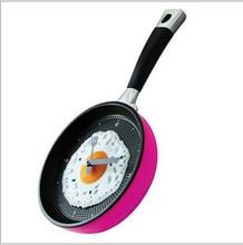Lekexi Omelette Fry Pan Wall Clock Decor Egg Pan Clock Decor Wall For Kids Rooms Decoration Gift Kitchen Fried Egg Design