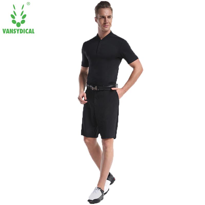 Vansydical Brand Men Clothing Men's Formal shirts with shorts Summer Breathable Elastic Short Sleeved Business Uniforms