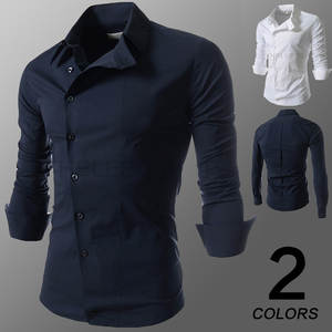 a2748e4f9d7081 wofepymxmying Men dress shirts long sleeve slim fit