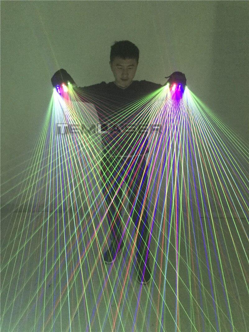2 w 1 Multi line rękawice laserowe RGB With2 zielony 1 czerwony 1 niebieski dla LED luminous kostiumy pokaż w Świecący asortyment na imprezy od Dom i ogród na  Grupa 2