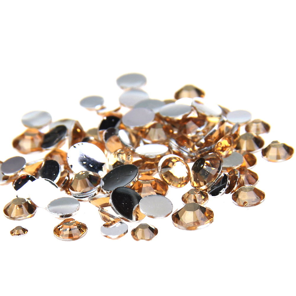 2-6mm Light Coffee Resin Rhinestones For Nail Art Gems Non Hotfix Glitter DIY Nail Design Nails Decorations New Arrive gitter 2 6mm citrine ab color resin rhinestones 14 facets round flatback non hotfix beads for 3d nail art decorations diy design