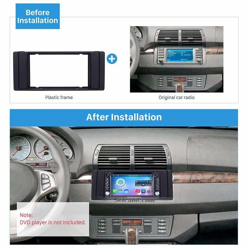 Seicane dvd-проигрыватель 2 DIN Панель в комплекте с тире автомобиля плата радиоприемника рамки для 1995 1996 1997 1998 1999 2000-2003 BMW5 E39 X5 E53