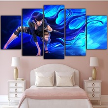 Prints Home Decor Canvas Painting 5 Pcs Anime Figure Naruto Character Wall Art Modern Modular Pictures Living Room Poster Framed