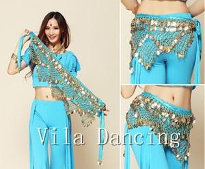 Image 2 - Новый стиль монеты танец живота Талия цепи Hip шарф живота Танцы ремень, 9 видов цветов для вашего выбора.
