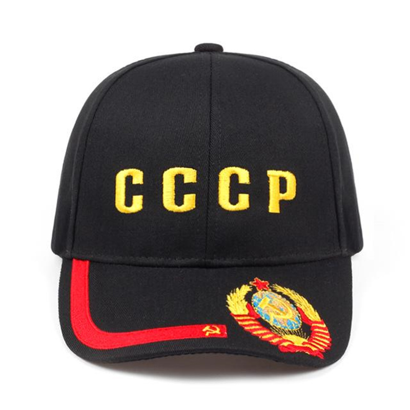 2019 New CCCP Russian Style Baseball Cap Unisex Black Red Cotton Snapback Caps With 3D Embroidery Best Quality Hats Golf Hat