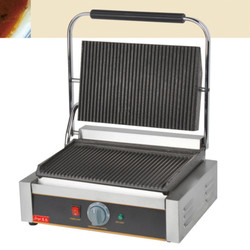 220V/2200W Non-stick Commercial Single Plate Steak Sandwich Toaster Machine Electric Griddle Grill Electric Contact Grill