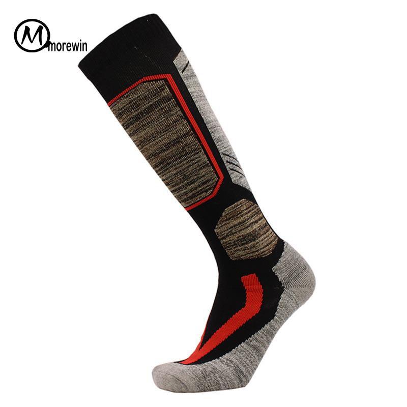 Morewin Warm Men Women Thermal Long Ski Socks Thicker Cotton Sports Snowboard Climbing Camping Hiking Socks