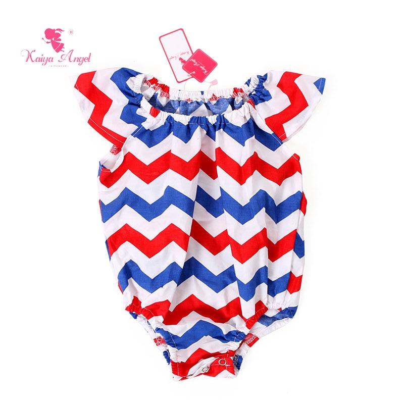 kaiya angelo 1 pz luglio tuta chevron costume da bagno us patriottico vestiti neonata di estate