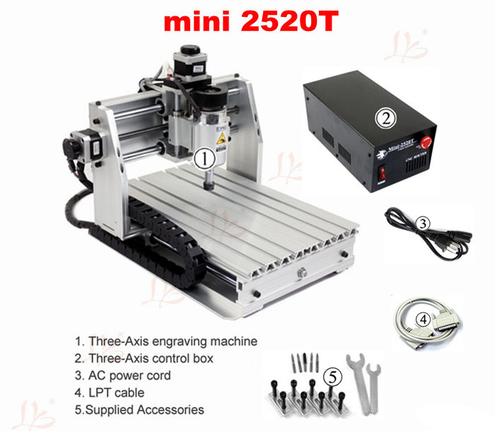 Desktop mini engraver 2520T cnc milling machine,for new user and personal hobby